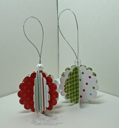 Holiday Scallop Ornaments
