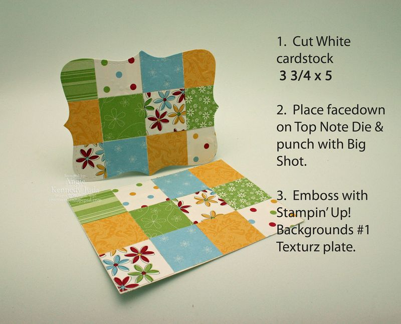 Top Note Quilt how to