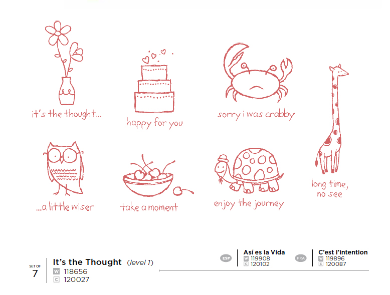 It's a thought stamp set