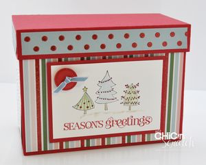 Candy Cane Christmas box