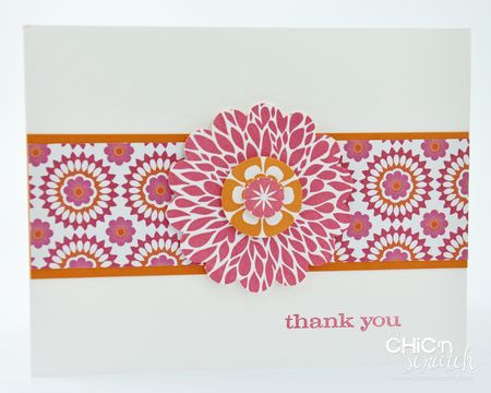 Floral District Thank you card
