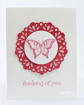 Papillon Potpourri simple card