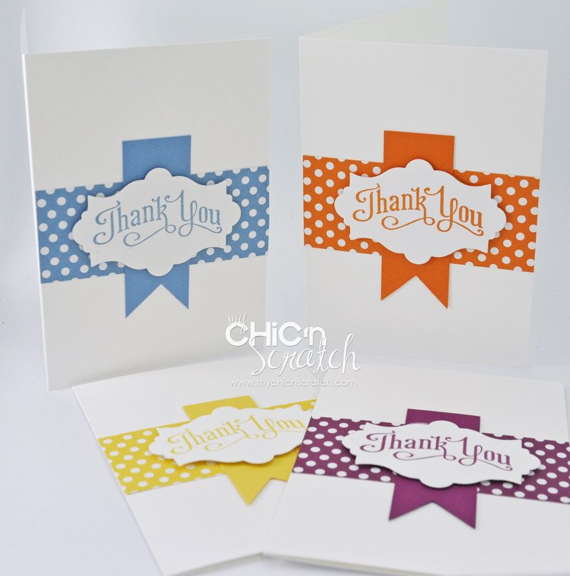 My Chic n Scratch July 2012 thank you card