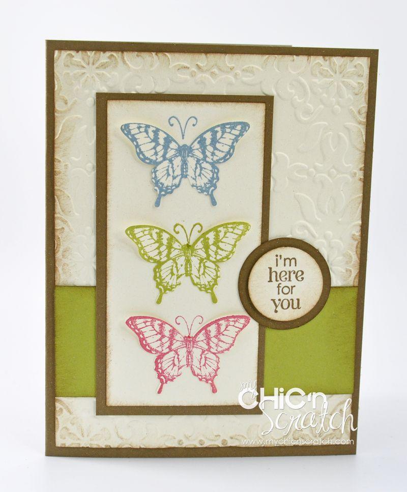 Papillon Potpourri Tiple butterfly card