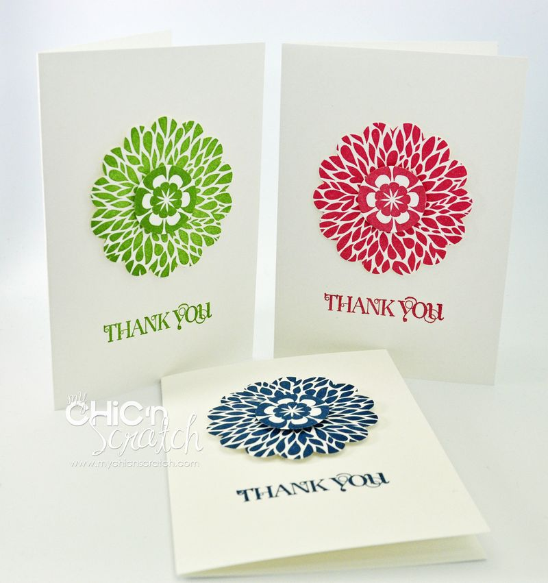 My Chic n Scratch June Thank You card