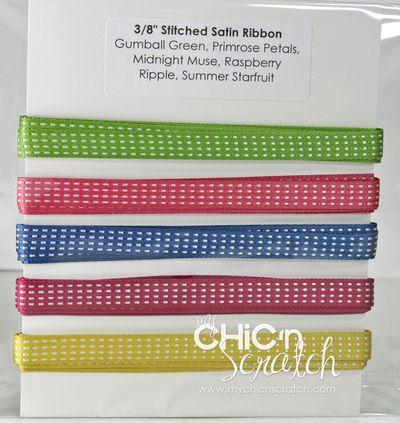 3:8 Stitched Satin Ribbon