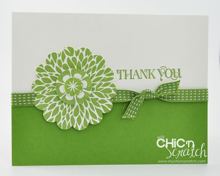 Betsy's Blossom thank you card