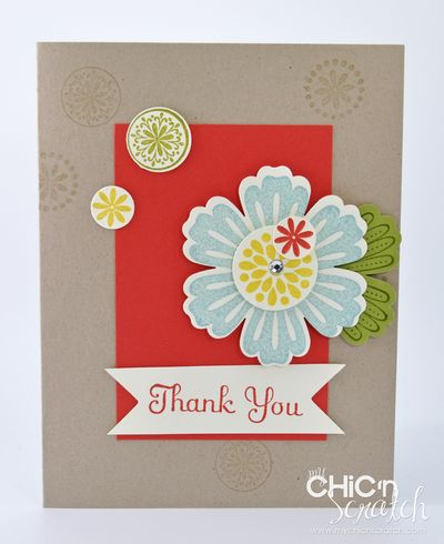 Mixed bunch thank you card