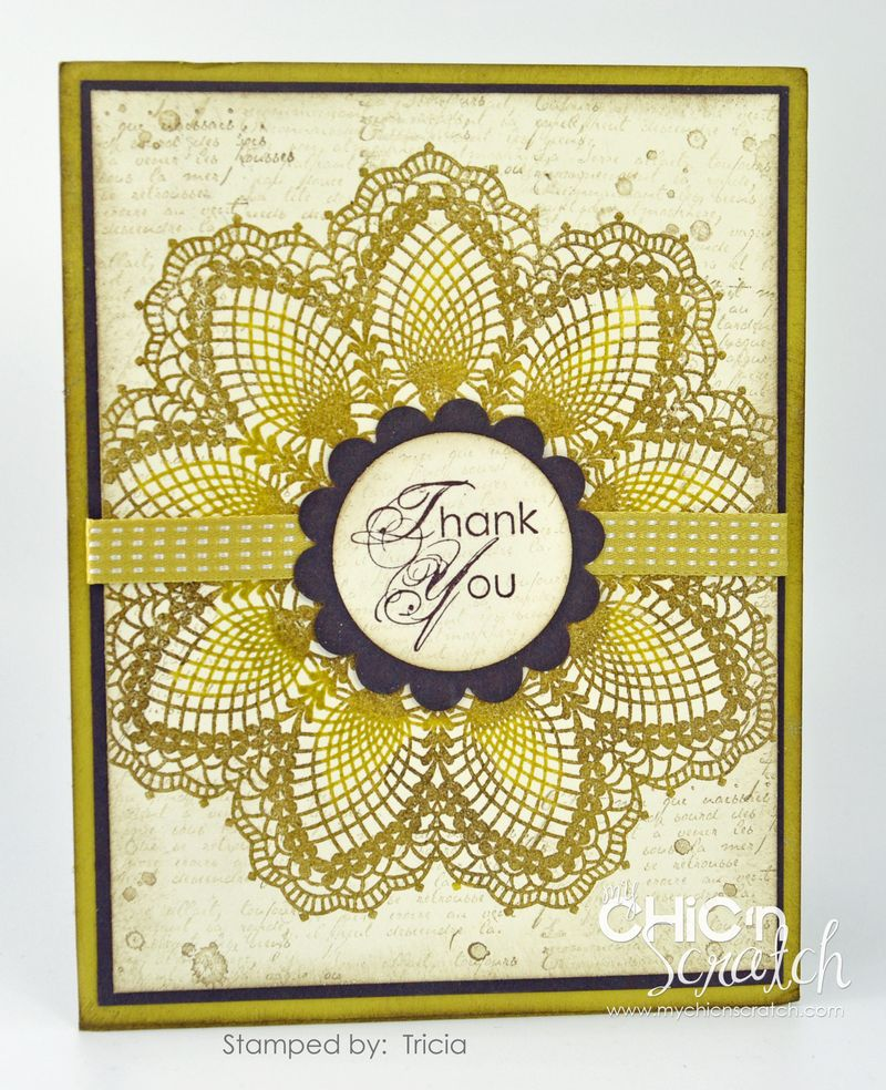 Hello Doily swap card