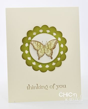 Papillon Potourri thinking of you card