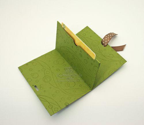 Greetings Gift Card Holder inside
