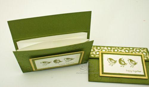 Side videw envelope card